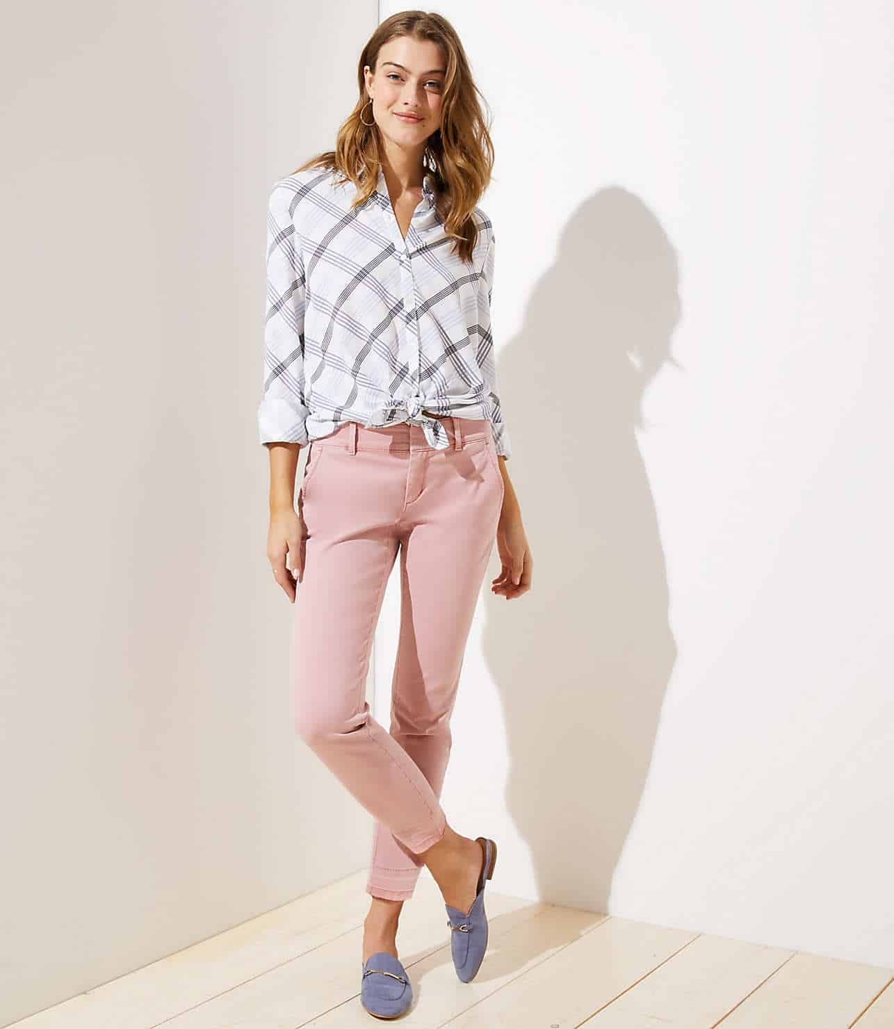 loft frayed girlfriend chinos