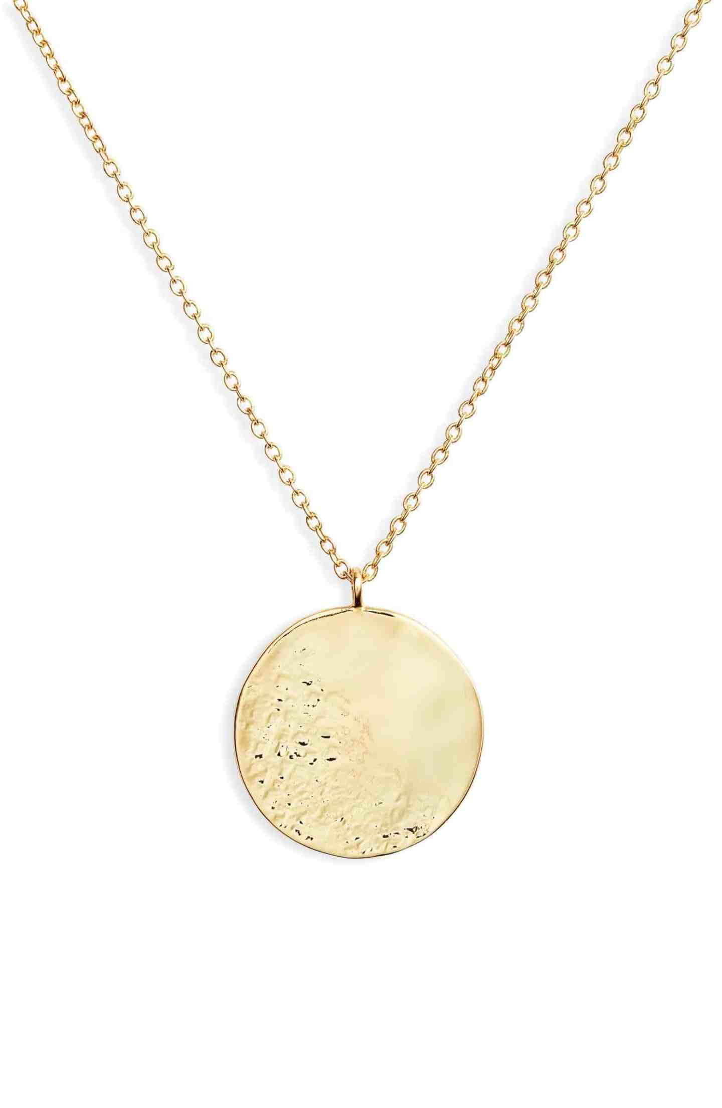 Gorjana Hammered Coin Necklace