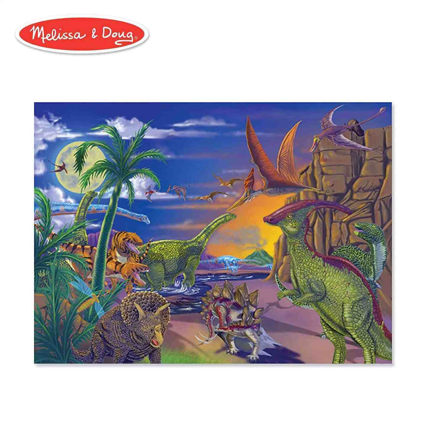 Melissa Doug Dinosaurs Floor Puzzle 60 pieces