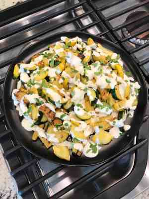 Summer Squash with Goat Cheese Cream