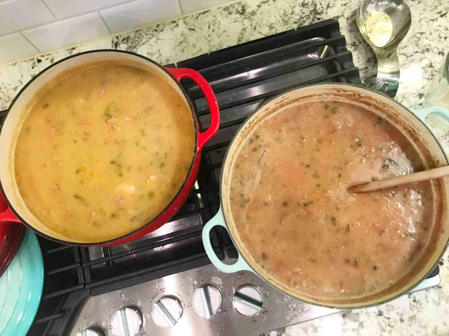 gumbo and red beans and rice