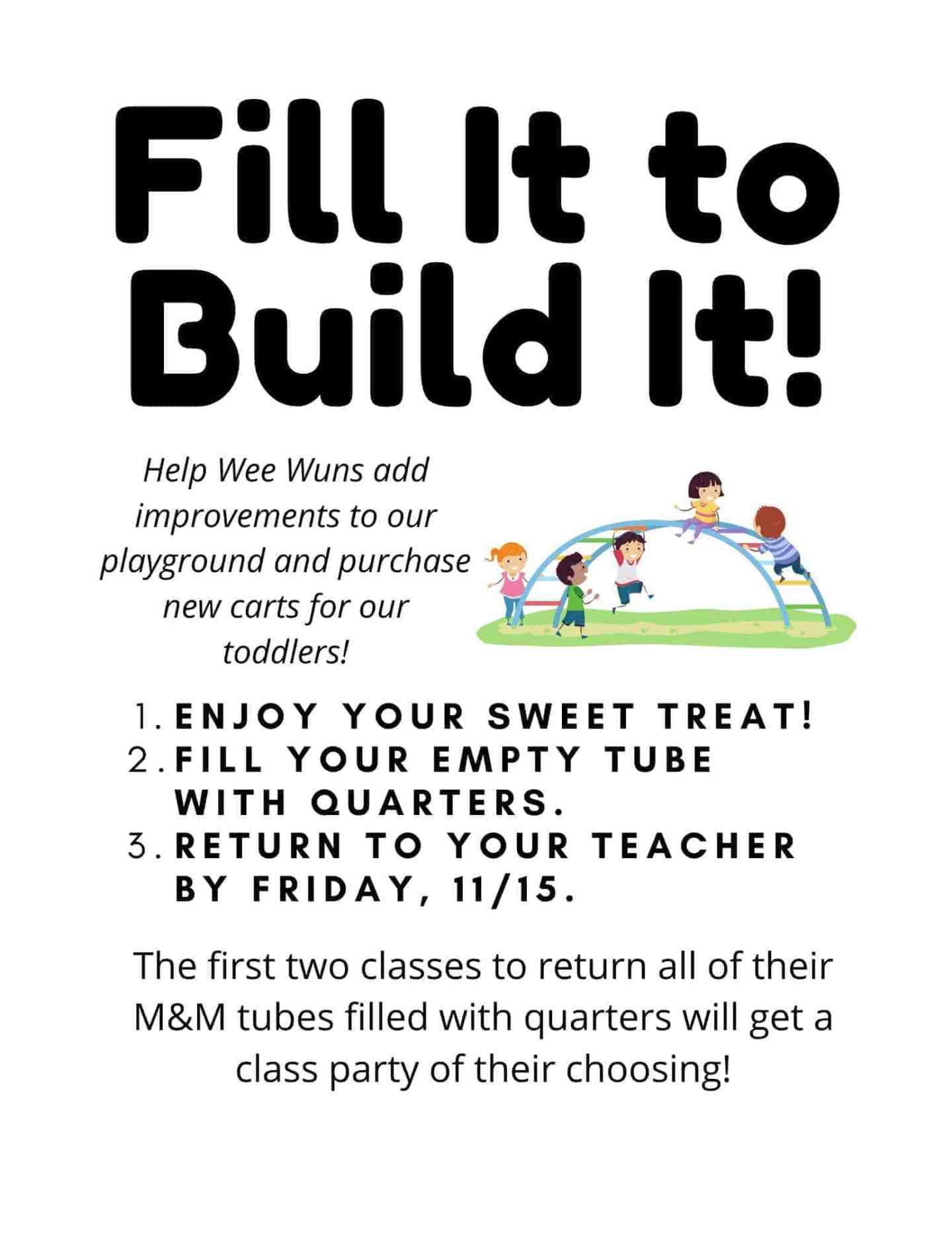 MMs Minis Quarters Fundraiser Flyer