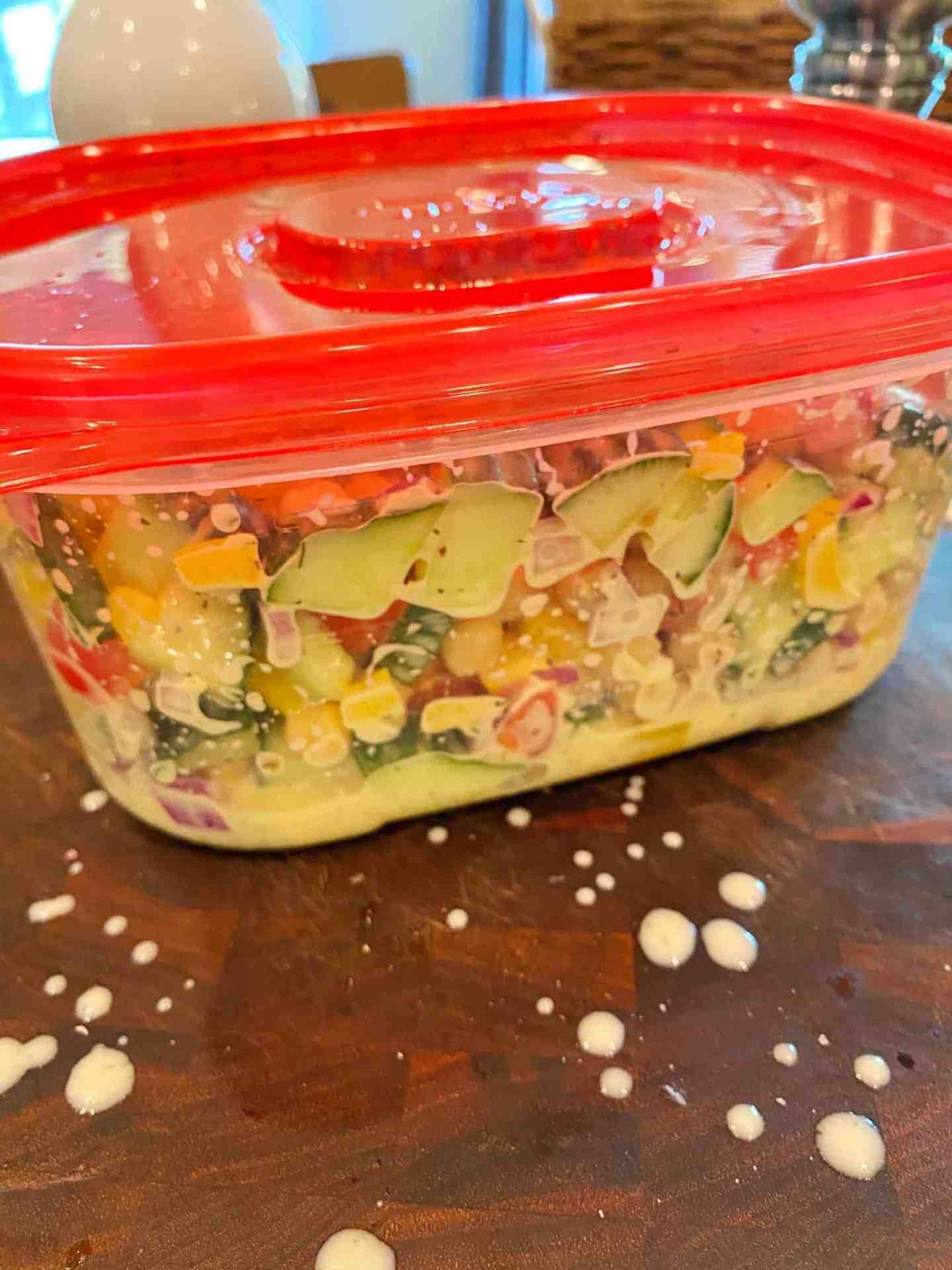 Mediterranean-Chickpea-Salad-dressing