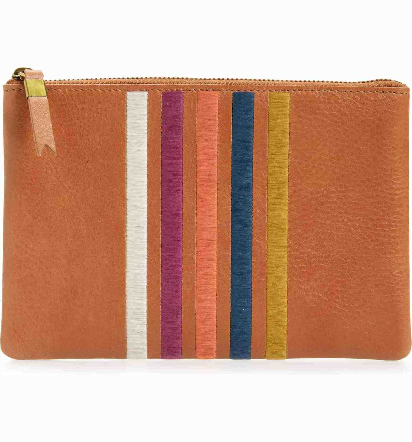 Leather-Pouch-Clutch-with-Rainbow-Stripes
