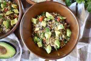 Loaded-Mexican-Veggie-Quinoa-with-Cilantro-Lime-Vinaigrette-recipe