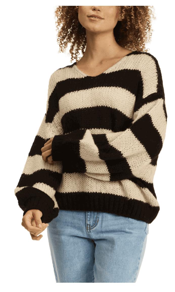 billabong stripe sweater