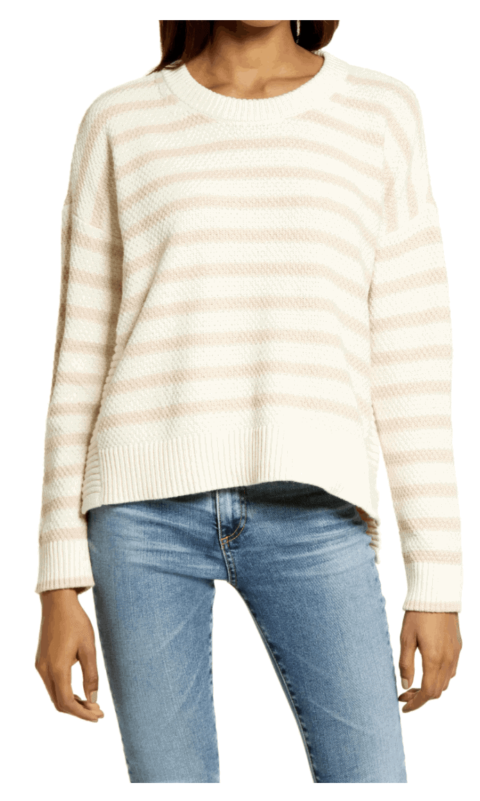 madewell pullover sweater stripe