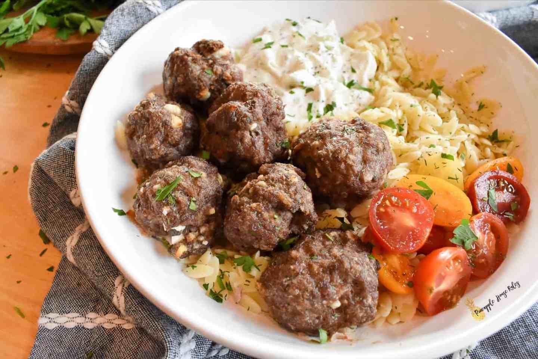 Greek Meatballs dinner