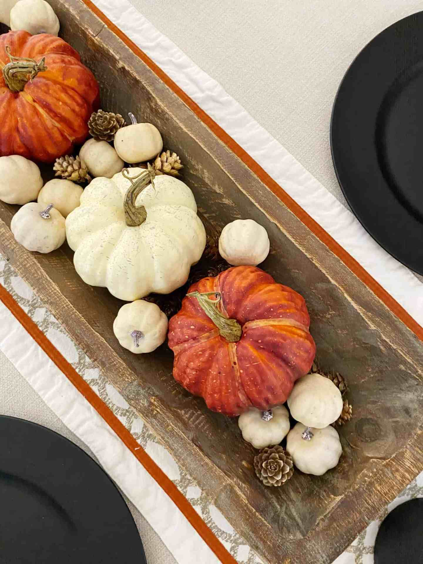 dining room table fall decor