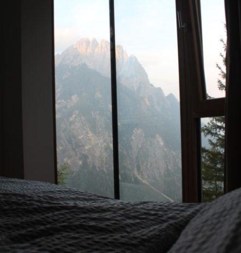 Blick aus den Zimmern in der Dolomitenhütte in Osttirol
