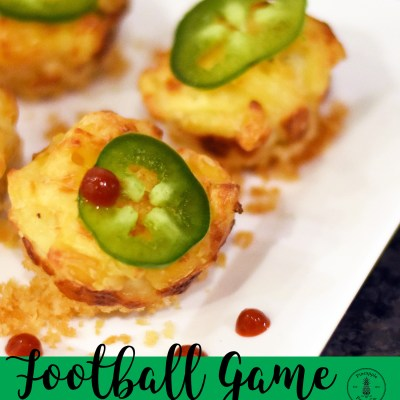 {Game Day} Jalapeno Popper Macaroni and Cheese Bites Party Appetizer Recipe