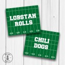 Game Day Food Tent Printables