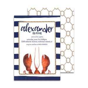 Lobster Birthday Invitation by Pineapple Paper Co.