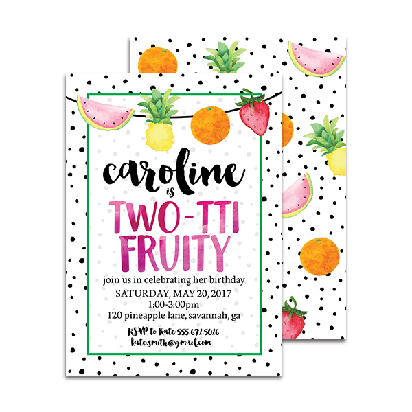 two-tti fruity birthday invitation