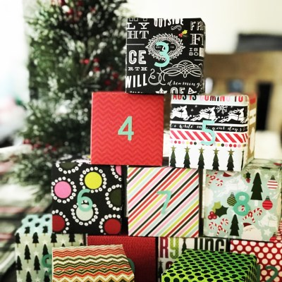 12 Days of Christmas Countdown Boxes DIY