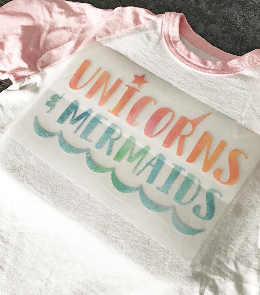 Unicorn Birthday Shirt with Cricut Patterned Iron On Vinyl