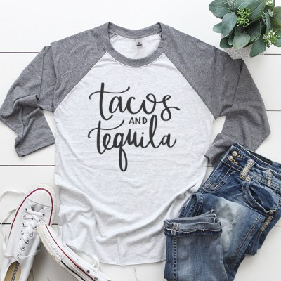 Tacos and Tequila Shirt SVG