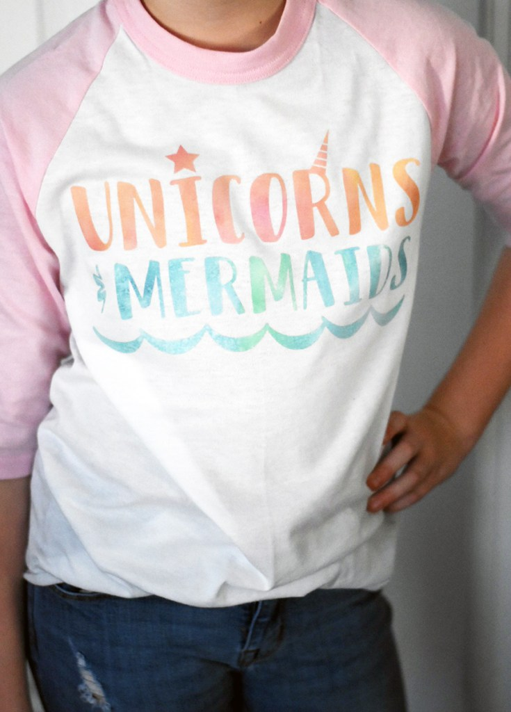 DIY Unicorns and Mermaids Shirt by Pineapple Paper Co.