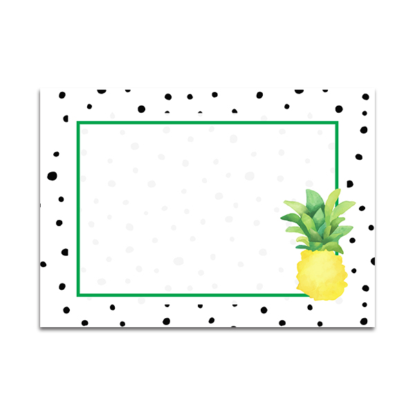 Twotti Frutti Food Tents with Pineapples by Pineapple Paper Co.