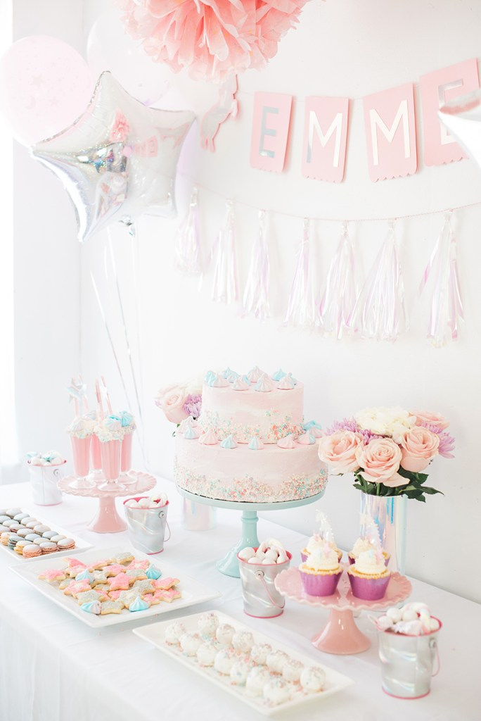 Unicorn Dessert Table by Pineapple Paper Co.