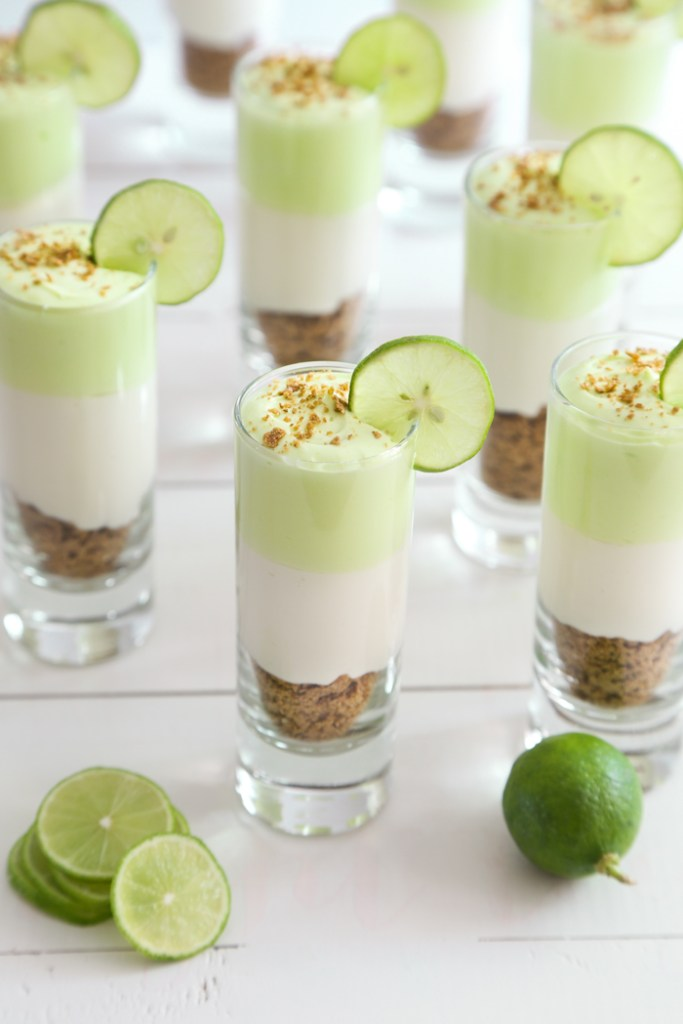 Key Lime Cheesecake Shots by Sprinkle Bakes