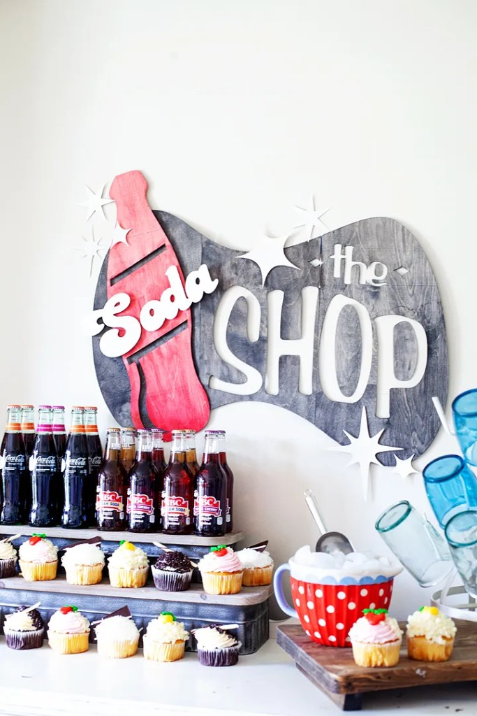 Soda Shop sign made with the Cricut Maker
