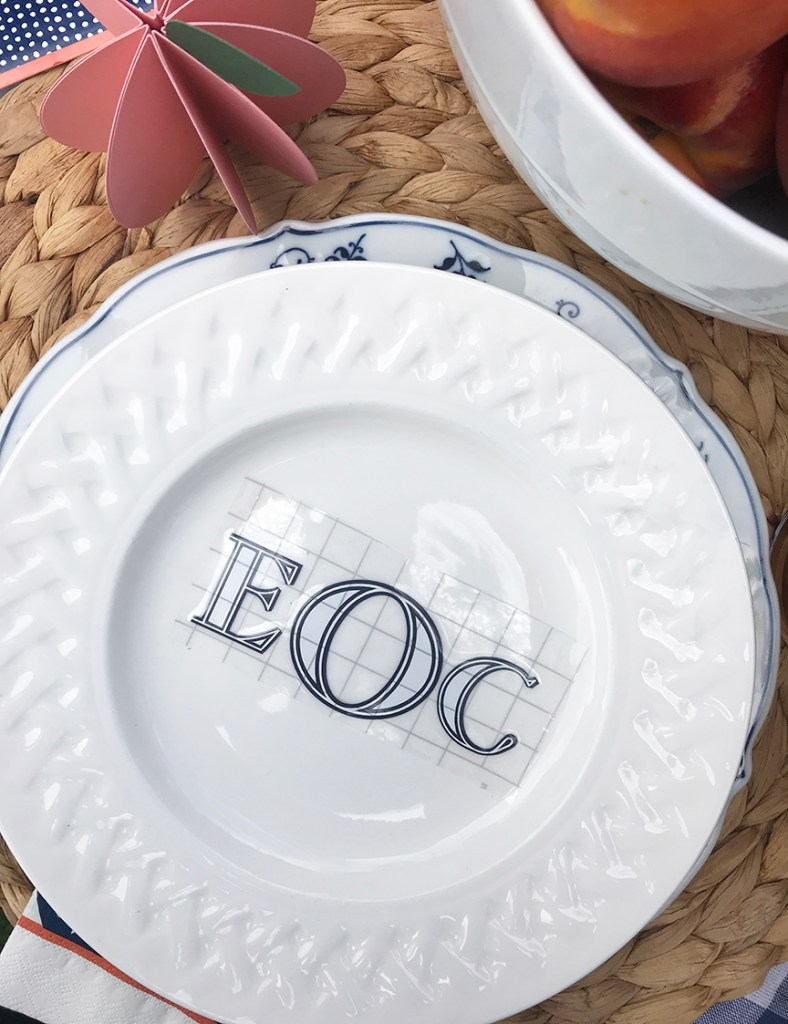 DIY Monogrammed Plate by Pineapple Paper Co.