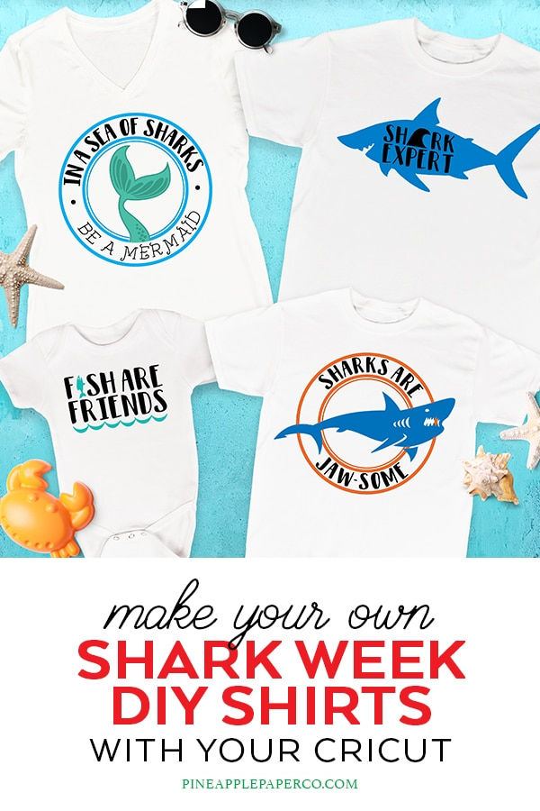 Shark Week Shirts for Cricut Design Space by Pineapple Paper Co.