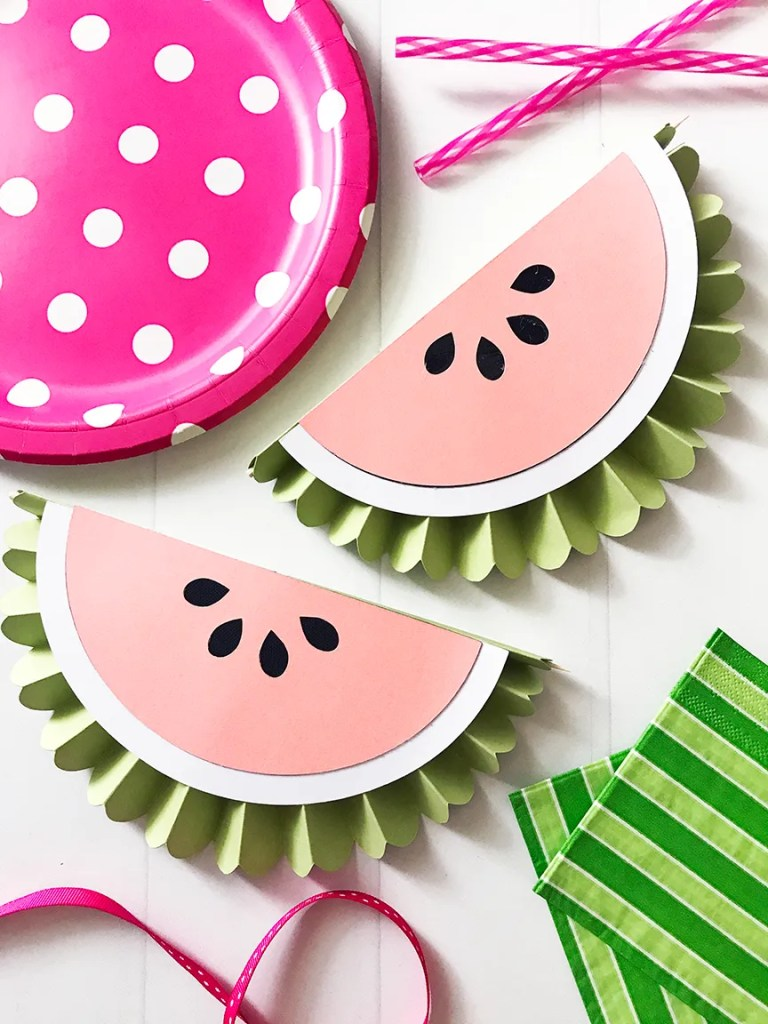 DIY Watermelon Rosettes by Pineapple Paper Co.