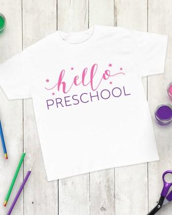 Hello Preschool First Day of Preschool Shirt