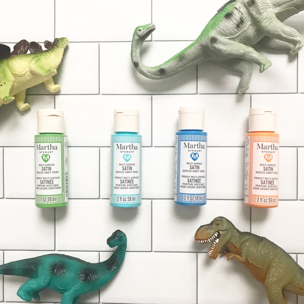 Martha Stewart paint and DIY Dinosaur Party Favors