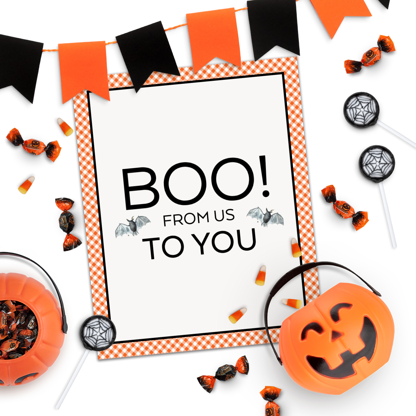 Boo to You Gift Tags and Sign Printables