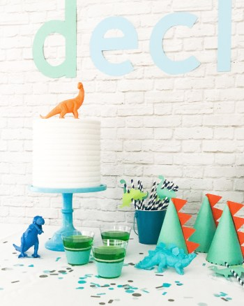 Dinosaur Party Ideas by Pineapple Paper Co. for Martha Stewart, Michaels, and Cricut