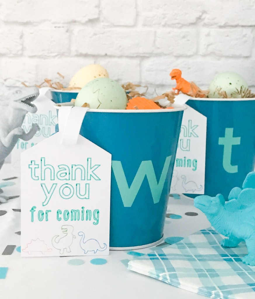 DIY Dinosaur Party Favors made with Martha Stewart Cricut by Pineapple Paper Co.