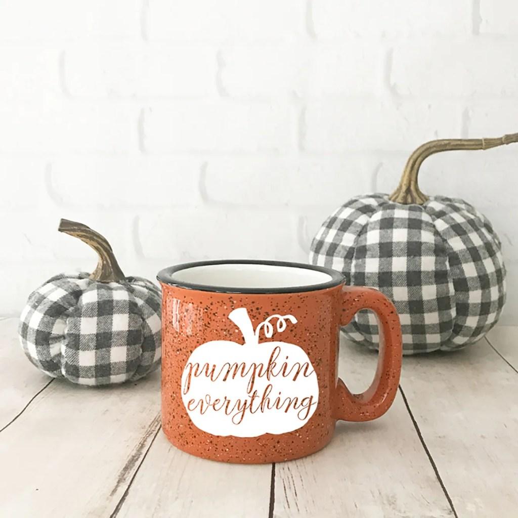 How To Make A Diy Pumpkin Mug Pineapple Paper Co