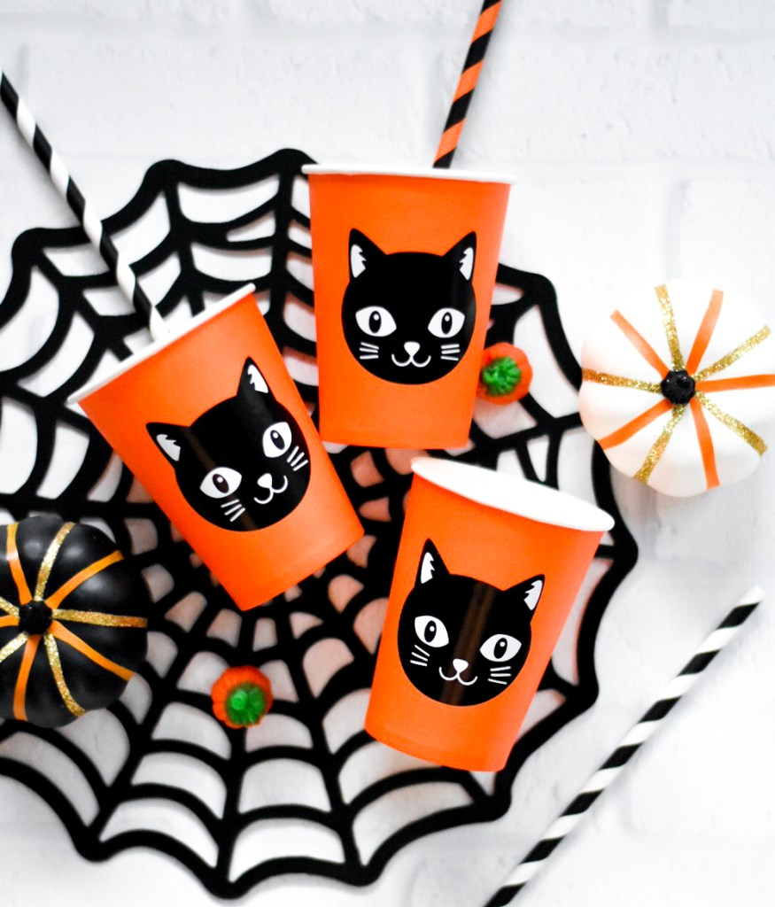 Make Your Own DIY Halloween Party Cups and Supplies with the Cricut Maker by Pineapple Paper Co.
