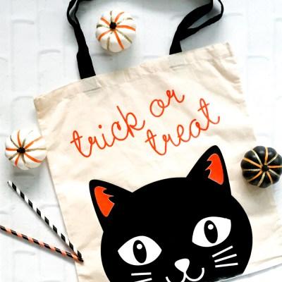 DIY Trick or Treat Tote Bag with a Cricut Machine