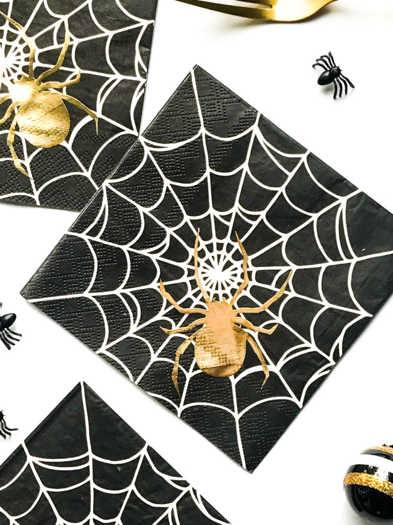 Make Your Own DIY Custom Foil Napkins for Halloween with Cricut, Martha Stewart, and Michaels by Pineapple Paper Co.