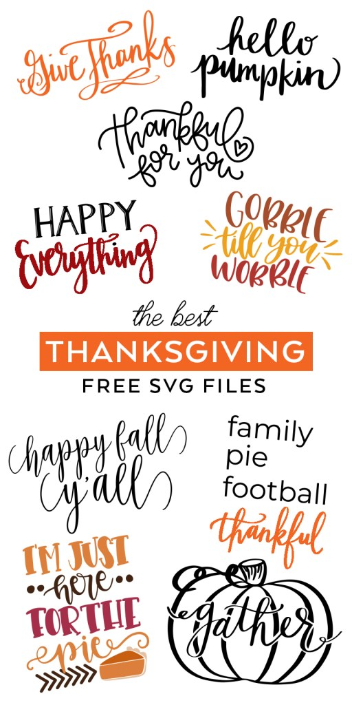 Download the Best FREE Thanksgiving SVG Files from fabulous designers curated by Pineapple Paper Co.