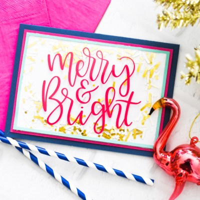 Make Handmade Christmas Cards with your Cricut Maker