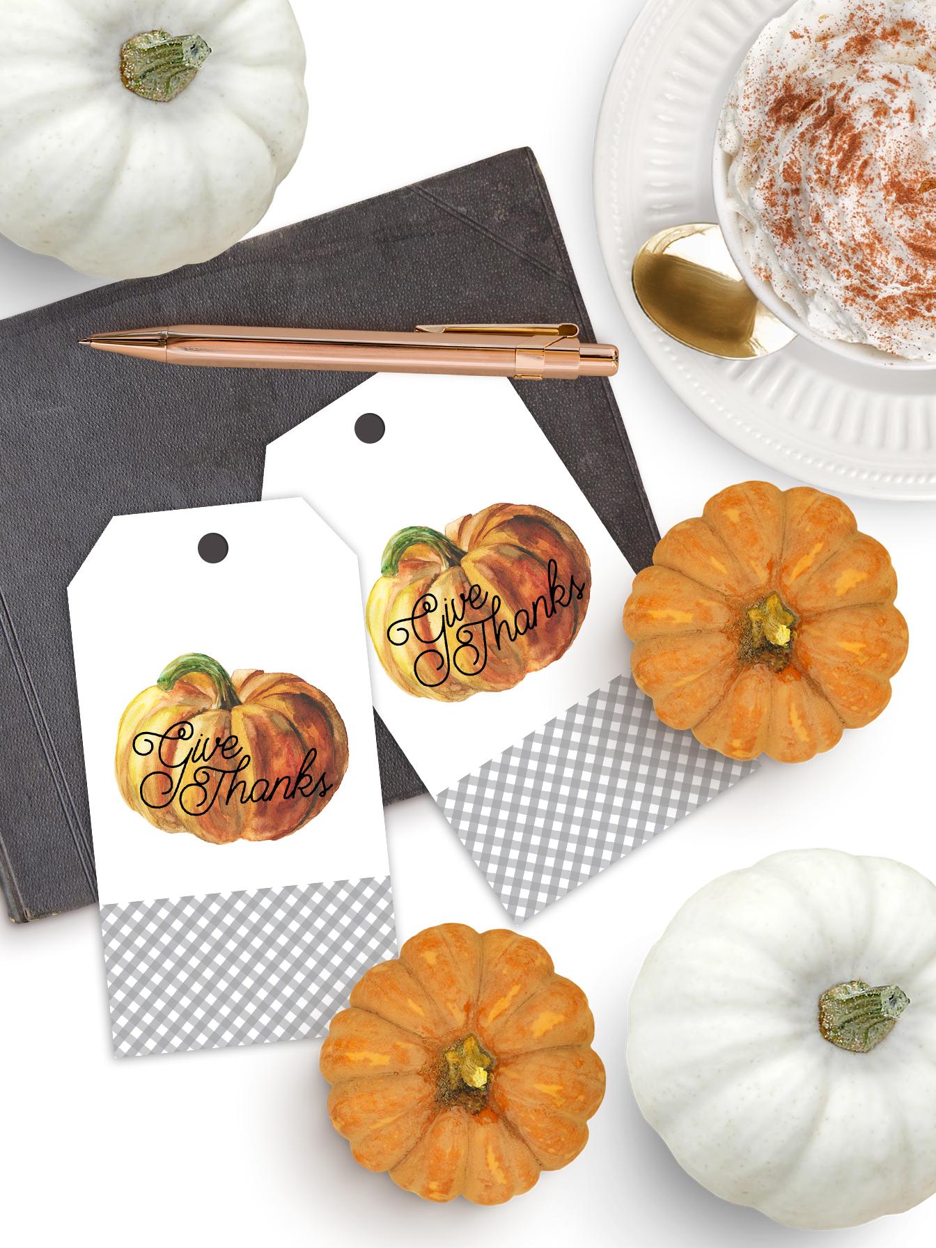 image regarding Free Printable Thanksgiving Tags titled Absolutely free Thanksgiving Printable Reward Tags - Pumpkin - Pineapple