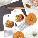 Gingham Give Thanks Pumpkin Gift Tags
