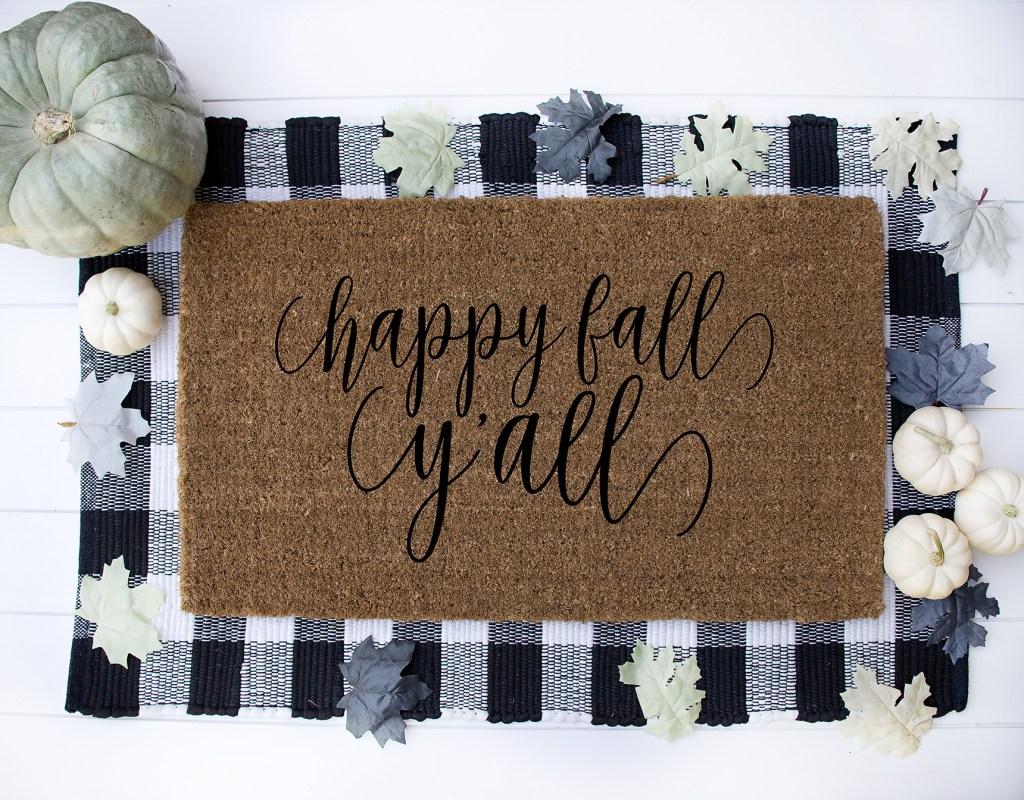 Cricut Diy Doormat And Happy Fall Y All Free Svg