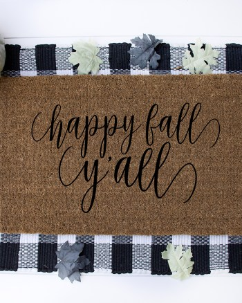 Download FREE Fall SVG and tutorial for DIY Doormat with your Cricut by Pineapple Paper Co.