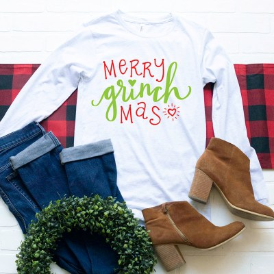FREE Merry Grinchmas SVG to Make Your Own Grinch Shirt