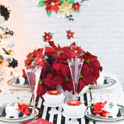 How to Make your Own Holiday Party Decor with Cricut, Martha Stewart, and Michaels
