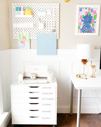 Cricut Craft Room Organization Ideas, Tips, and Tricks by Pineapple Paper Co.