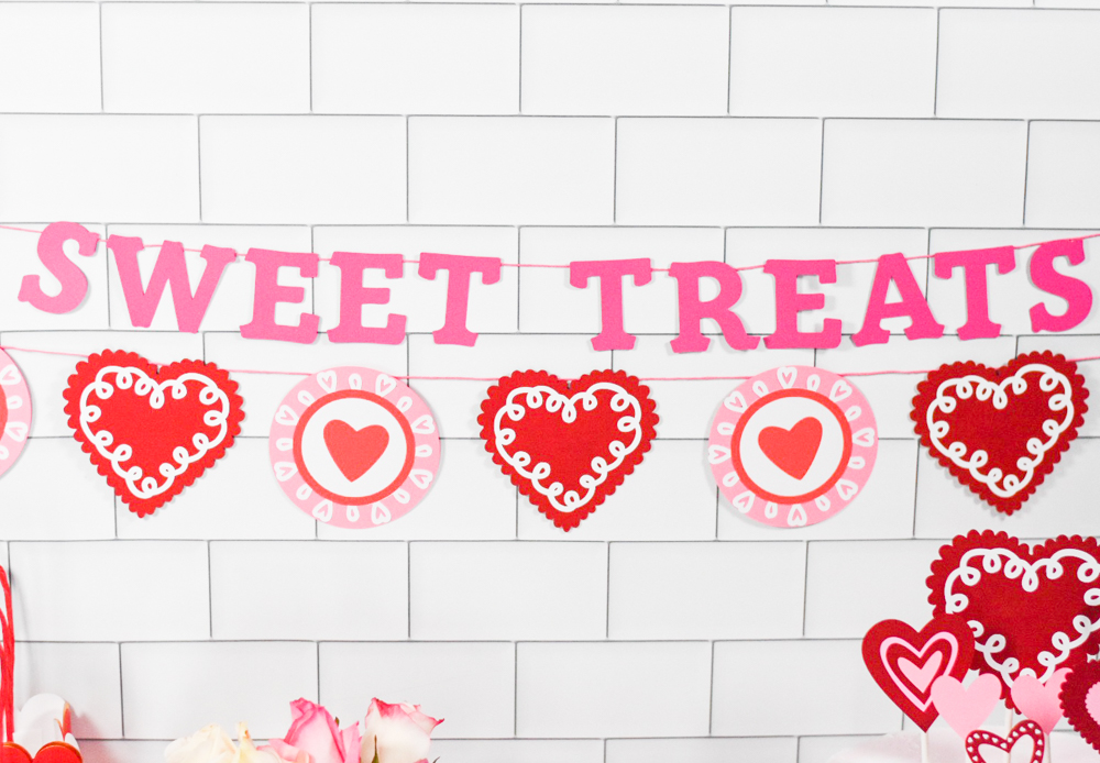 Red White and Pink DIY Heart Valentine's Day Party Decor by Pineapple Paper Co.