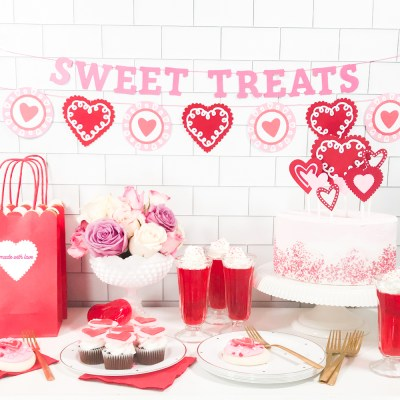 DIY Valentine's Day Party Ideas + Valentine's Day Cricut Crafts