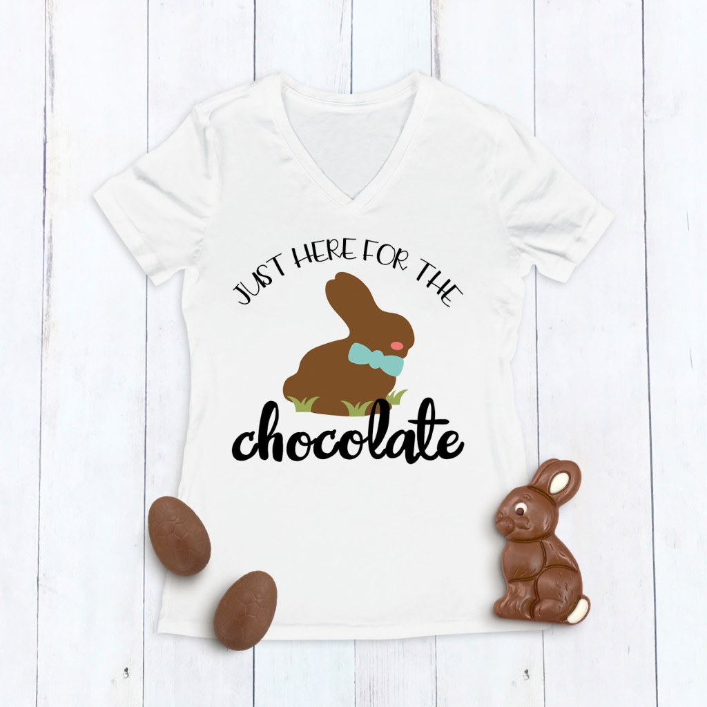 Just Here for the Chocolate DIY Easter Shirt by Pineapple Paper Co.